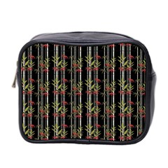 Bamboo Pattern Mini Toiletries Bag 2 Side by ValentinaDesign