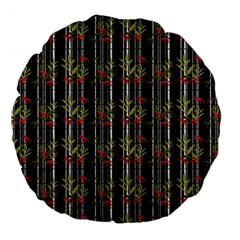 Bamboo Pattern Large 18  Premium Round Cushions by ValentinaDesign