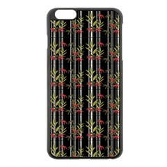 Bamboo Pattern Apple Iphone 6 Plus/6s Plus Black Enamel Case by ValentinaDesign
