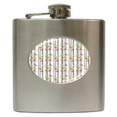 Bamboo Pattern Hip Flask (6 Oz) by ValentinaDesign