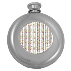 Bamboo Pattern Round Hip Flask (5 Oz) by ValentinaDesign