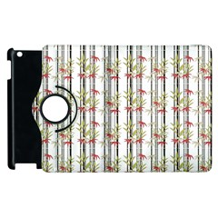 Bamboo Pattern Apple Ipad 3/4 Flip 360 Case by ValentinaDesign