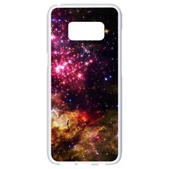 Space Colors Samsung Galaxy S8 White Seamless Case by ValentinaDesign