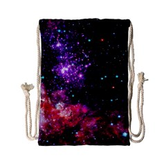 Space Colors Drawstring Bag (small) by ValentinaDesign