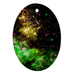 Space Colors Ornament (oval) by ValentinaDesign