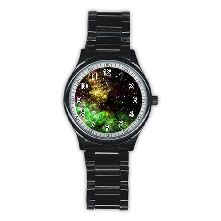Space colors Stainless Steel Round Watch