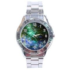 Space Colors Stainless Steel Analogue Watch by ValentinaDesign