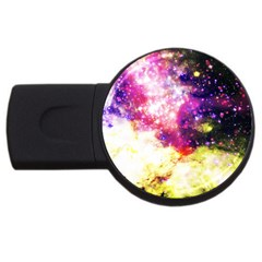 Space Colors Usb Flash Drive Round (4 Gb) by ValentinaDesign