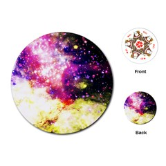 Space Colors Playing Cards (round)  by ValentinaDesign