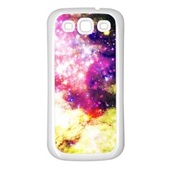 Space Colors Samsung Galaxy S3 Back Case (white) by ValentinaDesign