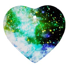 Space Colors Heart Ornament (two Sides) by ValentinaDesign