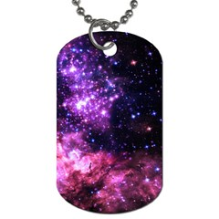 Space Colors Dog Tag (two Sides) by ValentinaDesign
