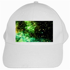 Space Colors White Cap by ValentinaDesign