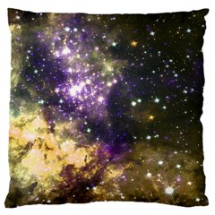 Space Colors Large Flano Cushion Case (one Side)