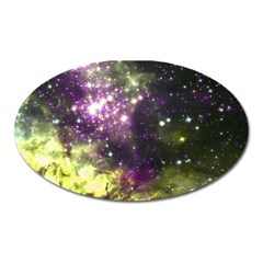 Space Colors Oval Magnet by ValentinaDesign