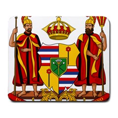 Kingdom Of Hawaii Coat Of Arms, 1795 1850 Large Mousepads by abbeyz71