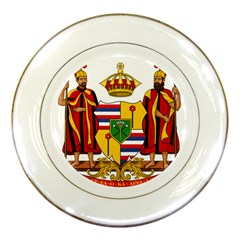 Kingdom Of Hawaii Coat Of Arms, 1795 1850 Porcelain Plates by abbeyz71