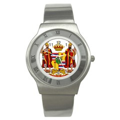 Kingdom Of Hawaii Coat Of Arms, 1795 1850 Stainless Steel Watch by abbeyz71