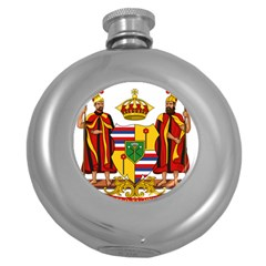Kingdom Of Hawaii Coat Of Arms, 1795 1850 Round Hip Flask (5 Oz) by abbeyz71