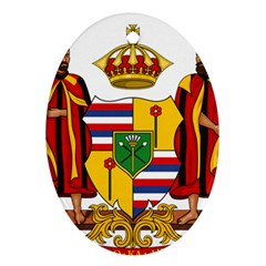 Kingdom Of Hawaii Coat Of Arms, 1795 1850 Oval Ornament (two Sides) by abbeyz71