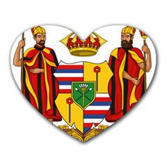 Kingdom Of Hawaii Coat Of Arms, 1795 1850 Heart Mousepads by abbeyz71