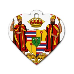 Kingdom Of Hawaii Coat Of Arms, 1795 1850 Dog Tag Heart (two Sides) by abbeyz71