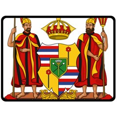 Kingdom Of Hawaii Coat Of Arms, 1795 1850 Double Sided Fleece Blanket (large)  by abbeyz71