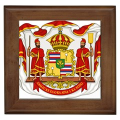 Kingdom Of Hawaii Coat Of Arms, 1850 1893 Framed Tiles by abbeyz71