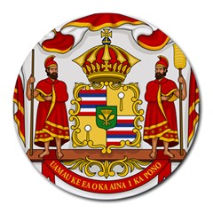 Kingdom Of Hawaii Coat Of Arms, 1850 1893 Round Mousepads by abbeyz71
