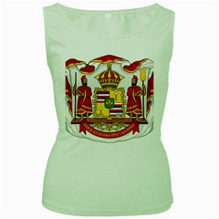 Kingdom Of Hawaii Coat Of Arms, 1850 1893 Women s Green Tank Top by abbeyz71
