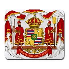 Kingdom Of Hawaii Coat Of Arms, 1850 1893 Large Mousepads by abbeyz71