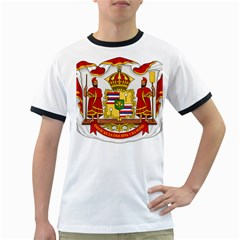 Kingdom Of Hawaii Coat Of Arms, 1850 1893 Ringer T Shirts by abbeyz71