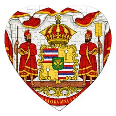 Kingdom Of Hawaii Coat Of Arms, 1850 1893 Jigsaw Puzzle (heart) by abbeyz71