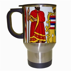 Kingdom Of Hawaii Coat Of Arms, 1850 1893 Travel Mugs (white) by abbeyz71