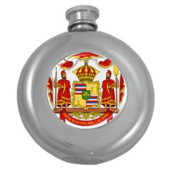 Kingdom Of Hawaii Coat Of Arms, 1850 1893 Round Hip Flask (5 Oz) by abbeyz71