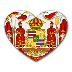 Kingdom Of Hawaii Coat Of Arms, 1850 1893 Heart Mousepads by abbeyz71