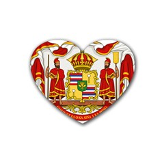 Kingdom Of Hawaii Coat Of Arms, 1850 1893 Rubber Coaster (heart)  by abbeyz71