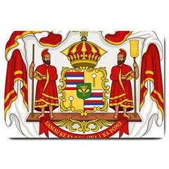 Kingdom Of Hawaii Coat Of Arms, 1850 1893 Large Doormat  by abbeyz71