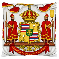 Kingdom Of Hawaii Coat Of Arms, 1850 1893 Large Cushion Case (two Sides) by abbeyz71