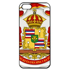 Kingdom Of Hawaii Coat Of Arms, 1850 1893 Apple Iphone 5 Seamless Case (black) by abbeyz71