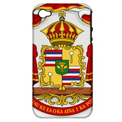 Kingdom Of Hawaii Coat Of Arms, 1850 1893 Apple Iphone 4/4s Hardshell Case (pc+silicone) by abbeyz71