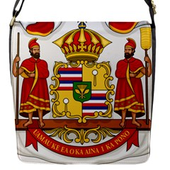 Kingdom Of Hawaii Coat Of Arms, 1850 1893 Flap Messenger Bag (s) by abbeyz71