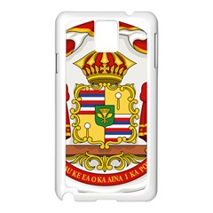 Kingdom Of Hawaii Coat Of Arms, 1850 1893 Samsung Galaxy Note 3 N9005 Case (white) by abbeyz71