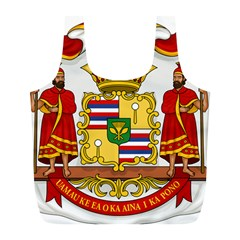 Kingdom Of Hawaii Coat Of Arms, 1850 1893 Full Print Recycle Bags (l)  by abbeyz71