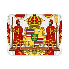 Kingdom Of Hawaii Coat Of Arms, 1850 1893 Double Sided Flano Blanket (mini)  by abbeyz71