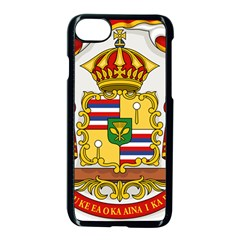 Kingdom Of Hawaii Coat Of Arms, 1850 1893 Apple Iphone 7 Seamless Case (black) by abbeyz71