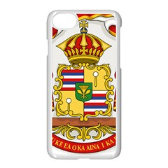 Kingdom Of Hawaii Coat Of Arms, 1850 1893 Apple Iphone 7 Seamless Case (white) by abbeyz71