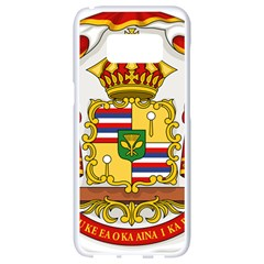 Kingdom Of Hawaii Coat Of Arms, 1850 1893 Samsung Galaxy S8 White Seamless Case by abbeyz71