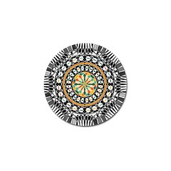 High Contrast Mandala Golf Ball Marker (10 Pack) by linceazul