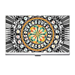 High Contrast Mandala Business Card Holders by linceazul